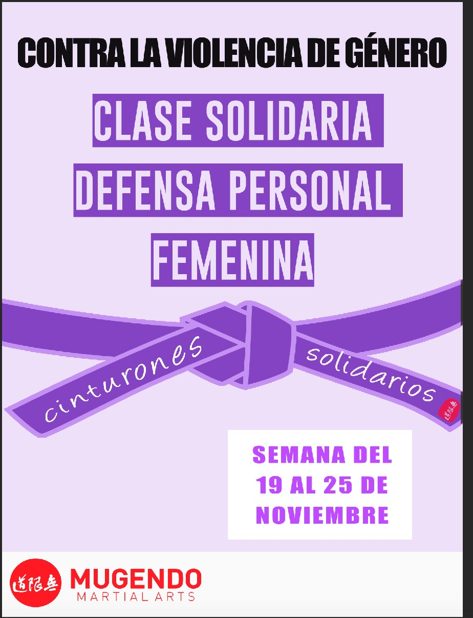 Mugendo contra la Violencia de género: Cinturones Solidarios Mugendo